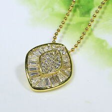 18K Yellow Gold Filled CZ Lady Women Fashion Jewelry Gift Necklace Pendant P2670