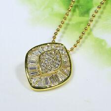 18K Yellow Gold Filled CZ Lady Women Fashion Jewelry Gift Necklace Pendant P2670