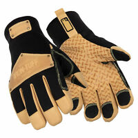 RefrigiWear Mens Iron-Tuff Tricot Lined Thinsulate Insulated Leather Work Gloves