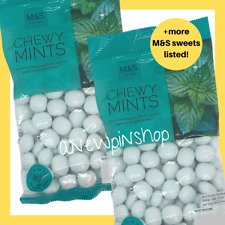 M&S Chewy Mints Sweets Fresh Peppermint 2x 200g Bags Marks Vegetarian