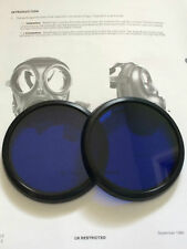 S10 GAS MASK BLUE LENSES RESPIRATOR BLUE OUTSERTS