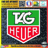 2 Stickers autocollant Tag heuer sponsor tuning motorsport rally decal sport