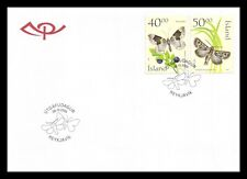 Iceland 2000 FDC, Butterflies, Lot # 1.