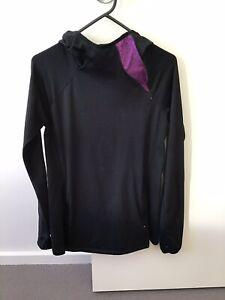 euc WOMEN NEW YORK ANDREW MARC PERFORMANCE GYM YOGA zip hoodie black  Medium
