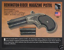 REMINGTON-RIDER MAGAZINE POCKET PISTOL .32 Gun Classic Firearms PHOTO CARD