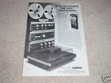 Revox B750 Amplifier,B77 Open Reel,B760 Tuner,B790 TT