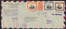 PANAMA 1948 REGISTERED AIR MAIL PANAMA TO JACKSON MI