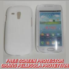 Pellicola + custodia BACK COVER BIANCA per Samsung I8190 Galaxy S3 SIII 3 mini