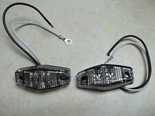Set of (2) LED Light 2 Diode RED 1x2.5 surface mount Clearance side marker