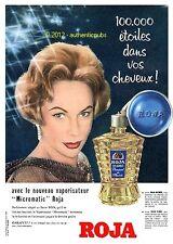PUBLICITE de 1958 ROJA BOUQUET DE FLEURS BRILLANTINE VAPORISATEUR MICROMATIC AD