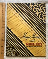 Vintage 1937 Magic Menus with Mueller's Macaroni Products Recipes Cookbook RARE