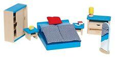 Puppenmöbel SCHLAFZIMMER 14-teilig Puppenhausmöbel Puppenstube Möbel Puppenhaus