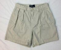 Polo Ralph Lauren Shorts Men's Chino Tan Khaki Andrew Size 30 Pleated Front