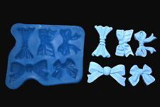 Sugarcraft Silicone Molds Sugarpaste Fondant Mould Chocolate Candy Ribbon Bow2