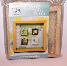 """Memory Shadowbox kit 7.5"""" Square Wooden With Beads Frames & other deco New"""
