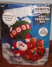Design Works Hot Air Balloon Felt Stocking Kit #5030 Open/Complete