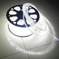 110V-130V SMD 3528 Flexible Flat LED Strip Rope Light Warm White Blue Red Green