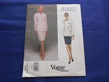Vintage Vogue Suit Skirt & Pants Pattern Bill Blass #1706 Size 8-10-12 1995 UC
