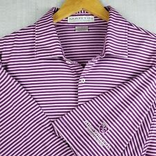 ALLEN EDMONDS x Martin Size XL Mens Purple Golf Polo Shirt 100% Pima SOFT EUC
