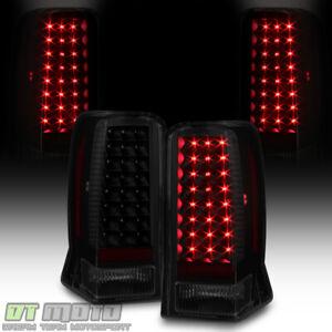 Black Smoke 2002 2003 2004 2005 2006 Cadillac Escalade ESV LED Tail Lights Lamps