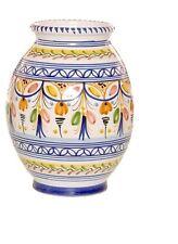 "Spanish Majolica Bolla Vase - 10"" Tall Spain, ceramic, pottery"
