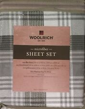 Woolrich Sheet Set Gray Queen Plaid 4 piece
