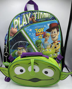 """Disney Toy Story 4 Backpack Set 16"""" Bag Lunch Tote Key Ring"""