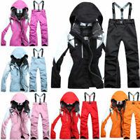 2020 New Women's Winter Waterproof Coat + Pants Sport Ski Suits Jacket Snowboard