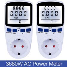 Digital Energiekostenmessgerät Stromverbrauchszähler Steckdose Power Meter 16A