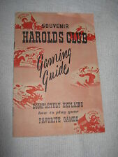 1949 Harolds Club Casino Reno Nevada Souvenir Gaming Guide Booklet