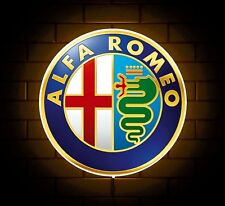 ALFA ROMEO BADGE SIGN LED LIGHT BOX MAN CAVE GARAGE WORKSHOP GAMES ROOM GIFT