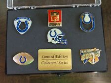 Vintage Indianapolis Colts Collectors Pin Set with Case and Bouns Pins Too !!!