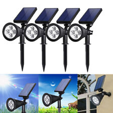 4pcs X Solar Power Spot Light Outdoor 4 LED Garden Lawn Landscape Path Wall Lamp