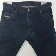 Diesel KROOLEY Mens Jeans W34 L30 Indigo Dark Blue Slim Tapered Carrot High Rise
