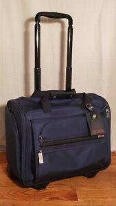 NWT Tumi 2-Wheel Boarding Duffel Carry-On Luggage in Blue $575