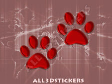 3D Sticker Decal Resin Domed Paws Adhesive Decal  Maroon