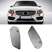 1 Pair Left+Right Bumper Fog Lamp Grille Cover Fit For Benz C Class C300 15-16