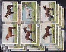 PLAYERS, TYPES OF HORSES, ORIGINAL SERIES OF 25 LARGE CARDS ISSUED IN 1939.