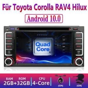 Android 10.0 Autoradio für Toyota Corolla RAV4 Hilux 2DIN GPS Navi Stereo DVD 4G