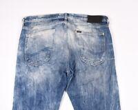 Lee Luke Slim Fit Slavato Look Uomo Elasticizzato Jeans Taglia 34/34