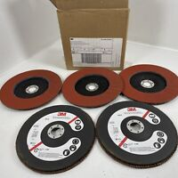 "3M 61198 Abrasive Flap Disc 947D, Type 27, 7"" in x 7/8"" in Grade 120 QTY (5)"