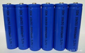 6 batterie pila ricaricabile a litio 3,7 v. 8800 mha / 35 grammi
