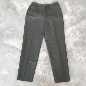 David N. Wool Womens Trouser n. Careerwear Green Grey Dress Pants (BX n) Size 10