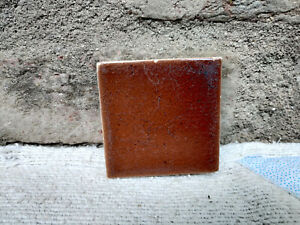 """1930s Vintage Architecture Furniture Tile 3"""" x 3"""" Brown Shade Japan Collectable"""