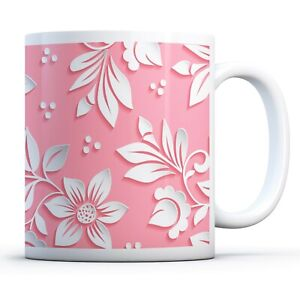 Beautiful Pink Floral - Drinks Mug Cup Kitchen Birthday Office Fun Gift #14866