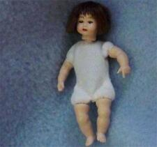 Dollhouse Toddler Doll Undressed HOXKB12 Heidi Ott poseable Brown hair eyes 1:12