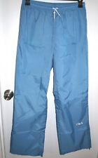 Fila Size Large Women's Blue Track Pants with Elastic Waist and Ankle Zip