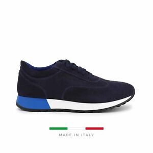 Sparco Imola-Run Blue Shoes Sneakers in Suede