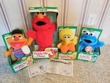 Vintage Tyco Lot Tickle Me Cookie Monster Elmo Ernie Big Bird !! Original & Rare