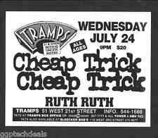 Cheap Trick Concert Handbill Flyer Nyc 1996